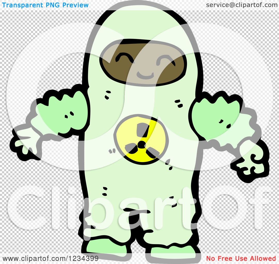 Clipart of a Man in a Hazmat Suit - Royalty Free Vector ...