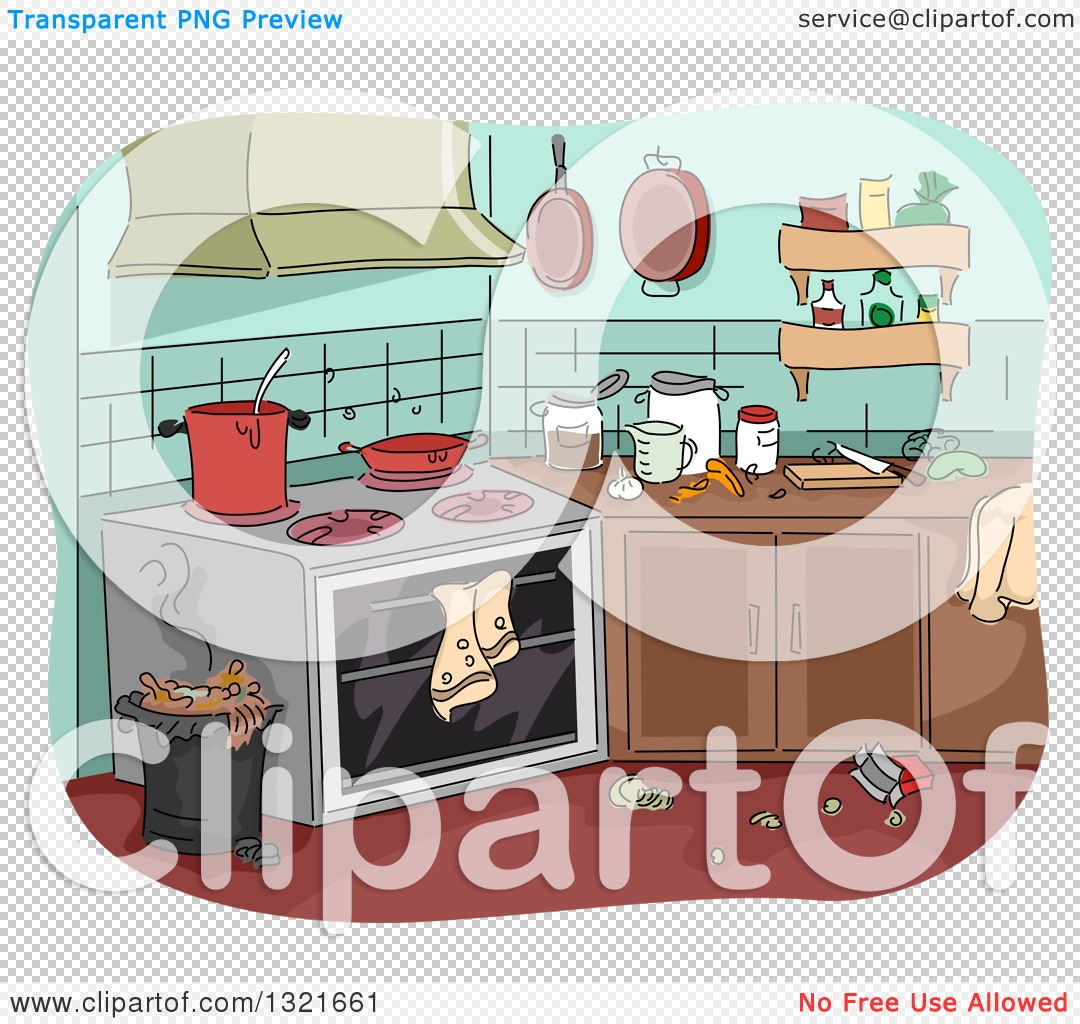 Messy Kitchen Images: Clipart Of A Messy Kitchen