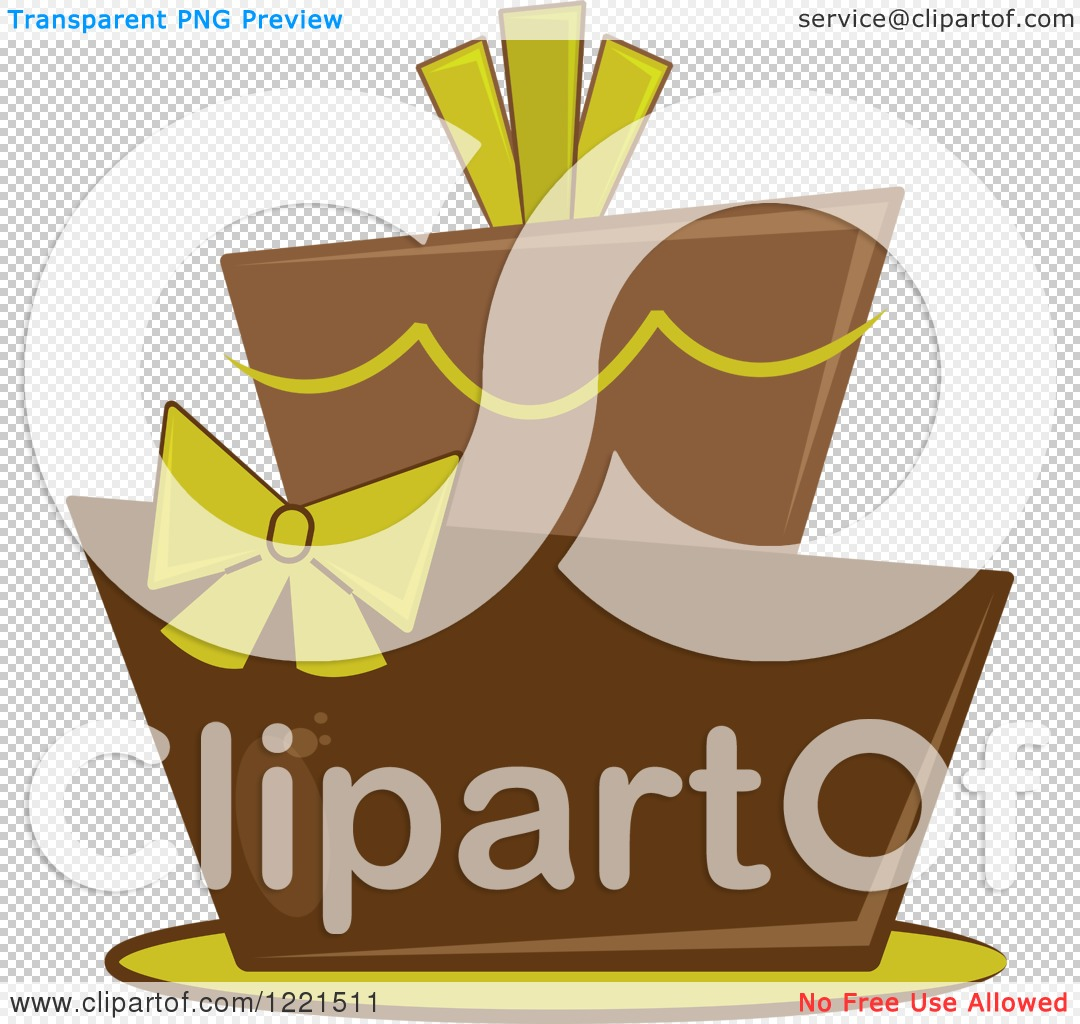 Clipart of a Modern Funky Green and Brown Wedding or