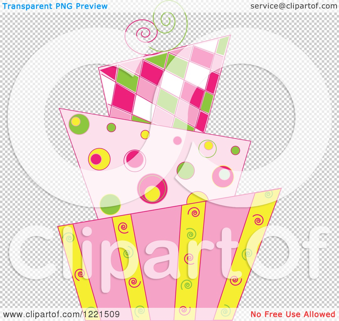 Clipart of a Modern Funky Patterned Wedding or Birthday