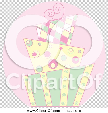 Clipart Of A Modern Pastel Funky Patterned Wedding Or