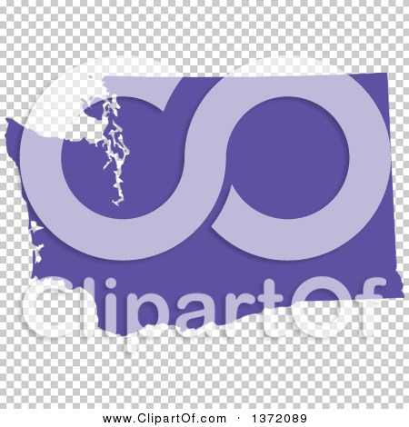 Clipart Of A Purple Silhouetted Map Shape Of The State Of Washington United States Royalty Free Vector Ilration By Jamers 1372089