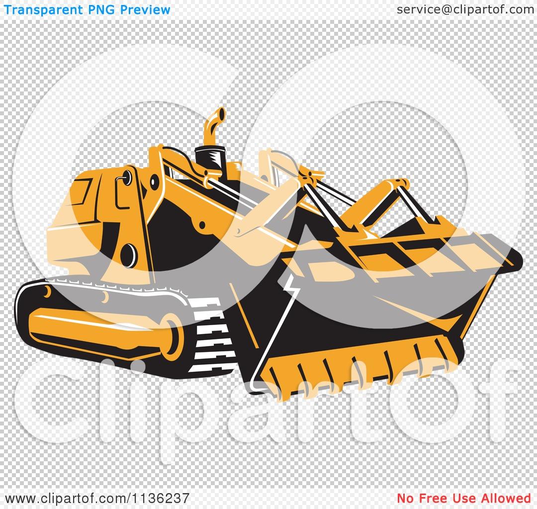 clipart of a retro bulldozer machine 1 royalty free vector illustration by patrimonio 1136237. Black Bedroom Furniture Sets. Home Design Ideas