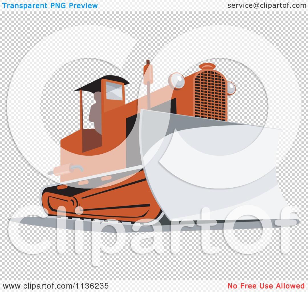 clipart of a retro bulldozer machine 2 royalty free vector illustration by patrimonio 1136235. Black Bedroom Furniture Sets. Home Design Ideas