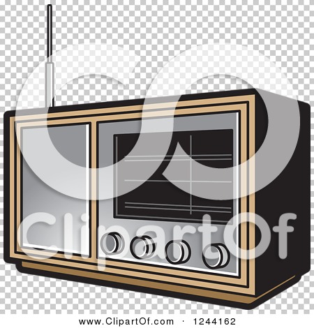 Clipart of a Retro Radio - Royalty Free Vector Illustration by Lal ...