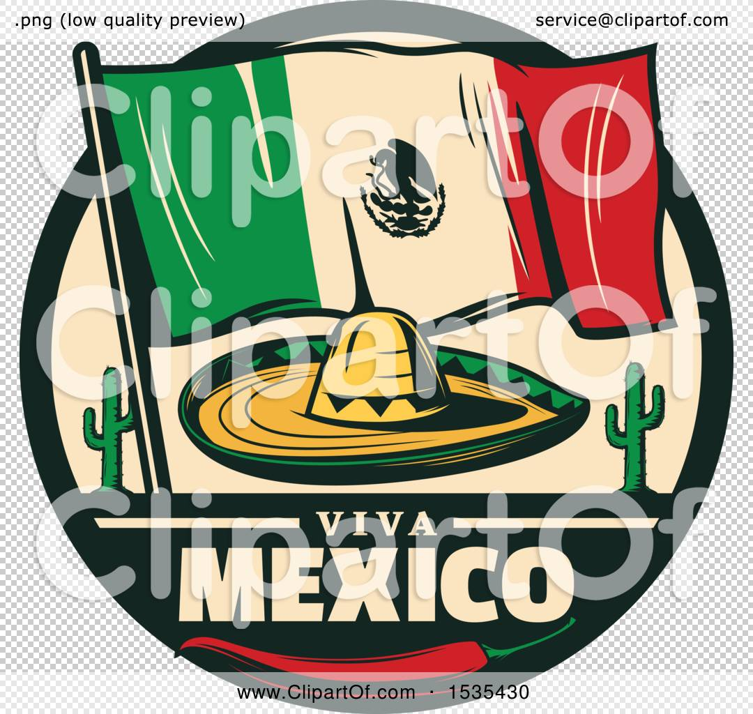 clipart of a retro styled cinco de mayo design with a sombrero mexican flag cactus and pepper. Black Bedroom Furniture Sets. Home Design Ideas