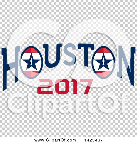 Clipart of a Retro Super Bowl 51 Houston 2017 Football Design ...