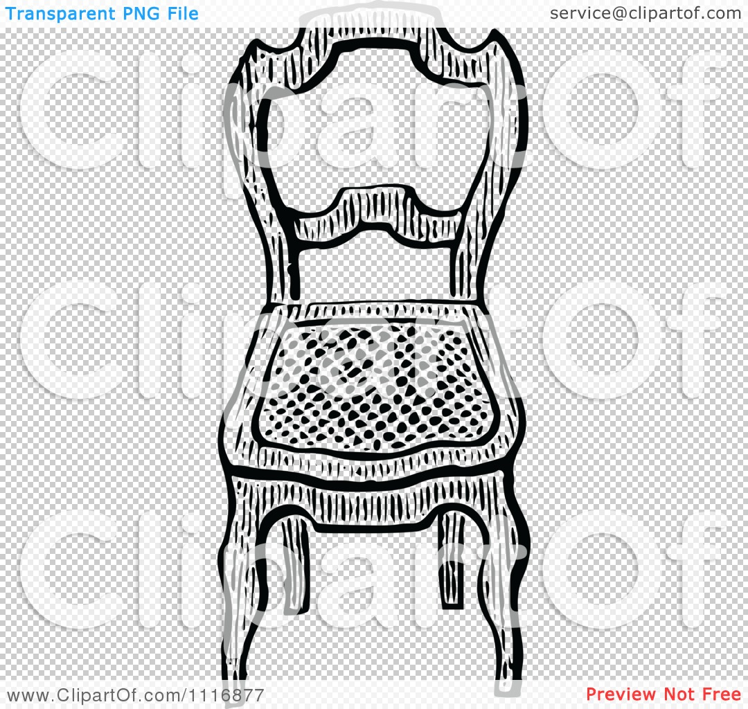 Black and white chair drawing - Png File Has A