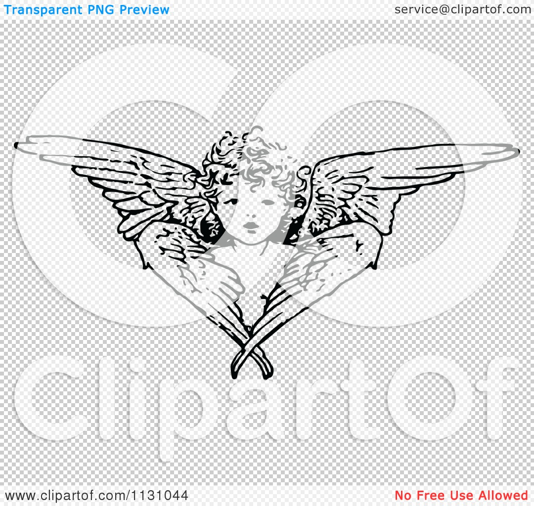 clipart of a retro vintage black and white cherub angel cherub clipart black and white cherib clip art