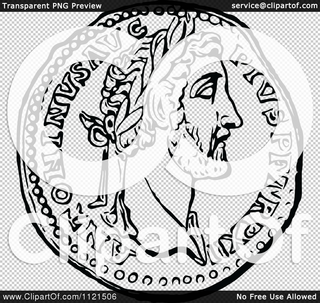 Roman Coin Drawing Png File Has a