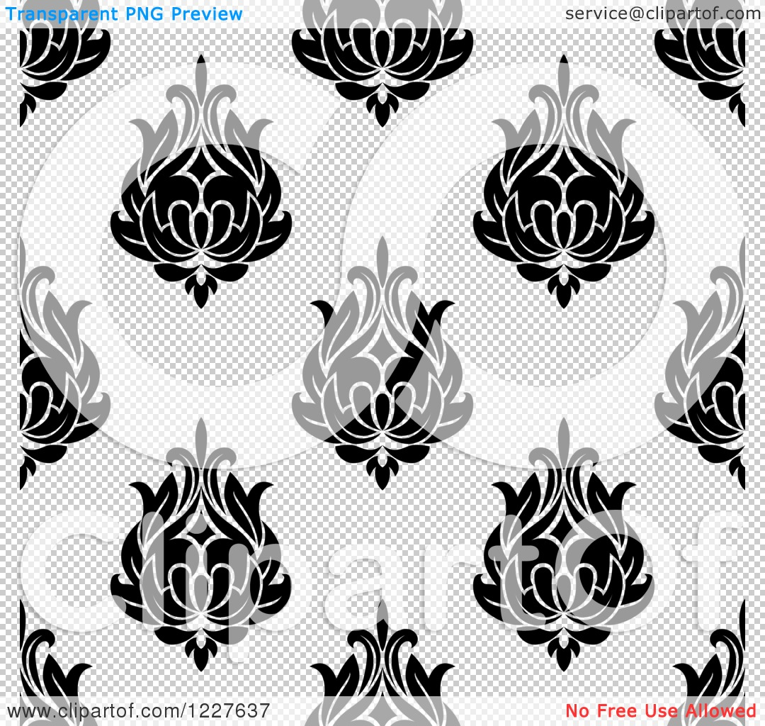 Clipart of a Seamless Background Pattern of Arabesque