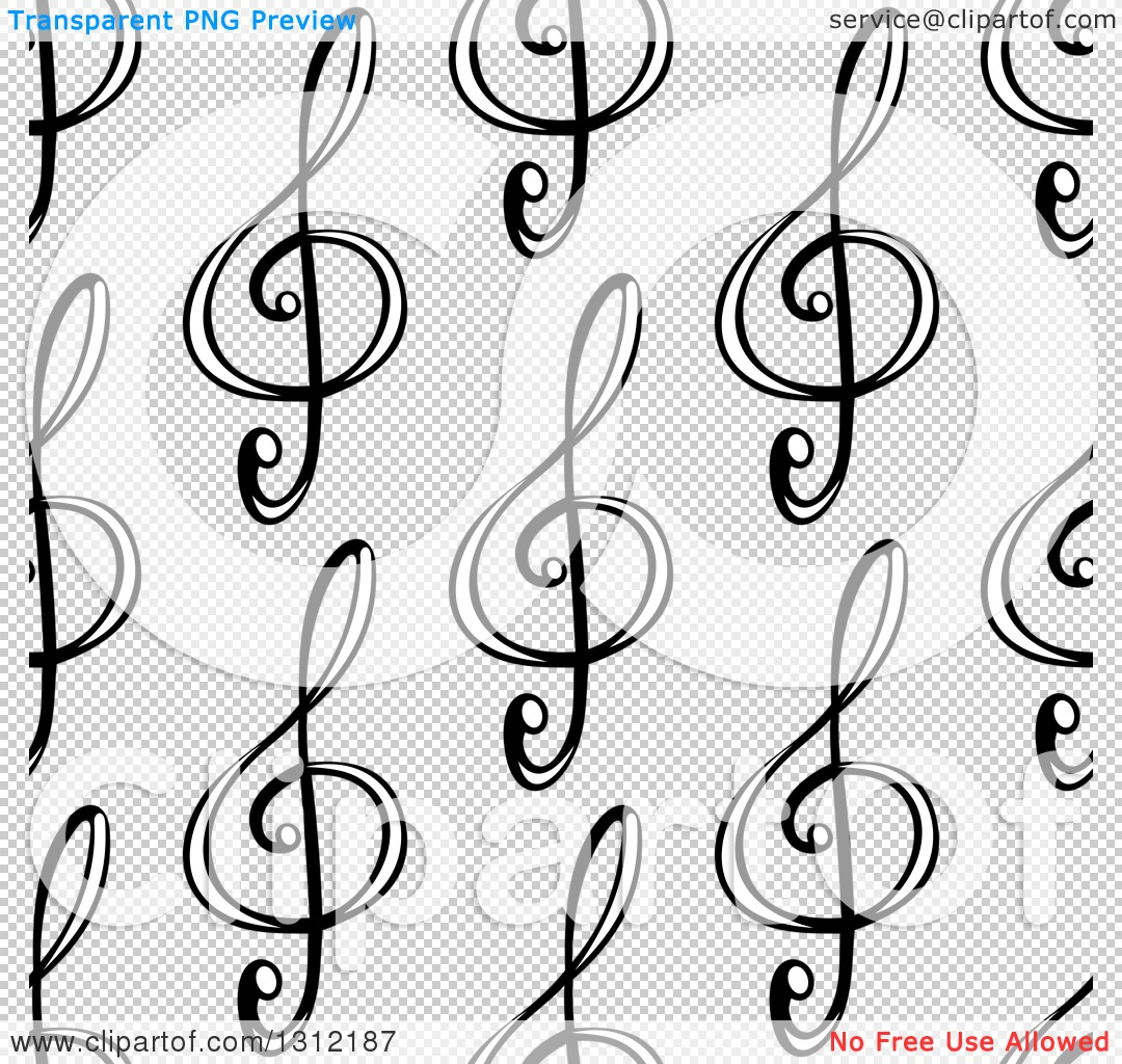 Clipart of a seamless background pattern of black and white music png file has a transparent background voltagebd Images