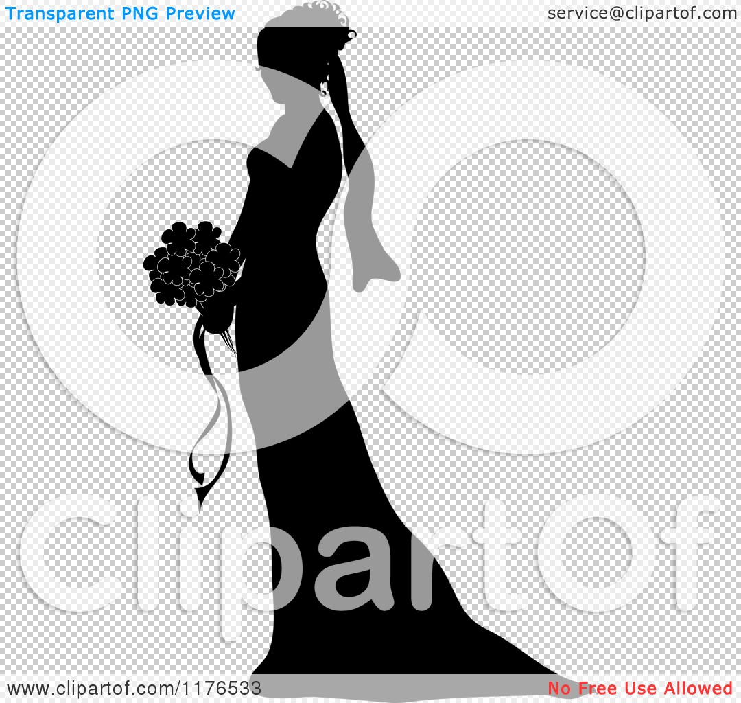 Bridal Party Silhouette Vector Wedding couple silhouette