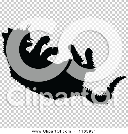 Clipart Of A Silhouetted Hissing Cat Royalty Free Vector