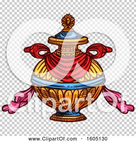 Clipart Of A Sketched Buddhist Bumpa Treasure Vase Royalty Free