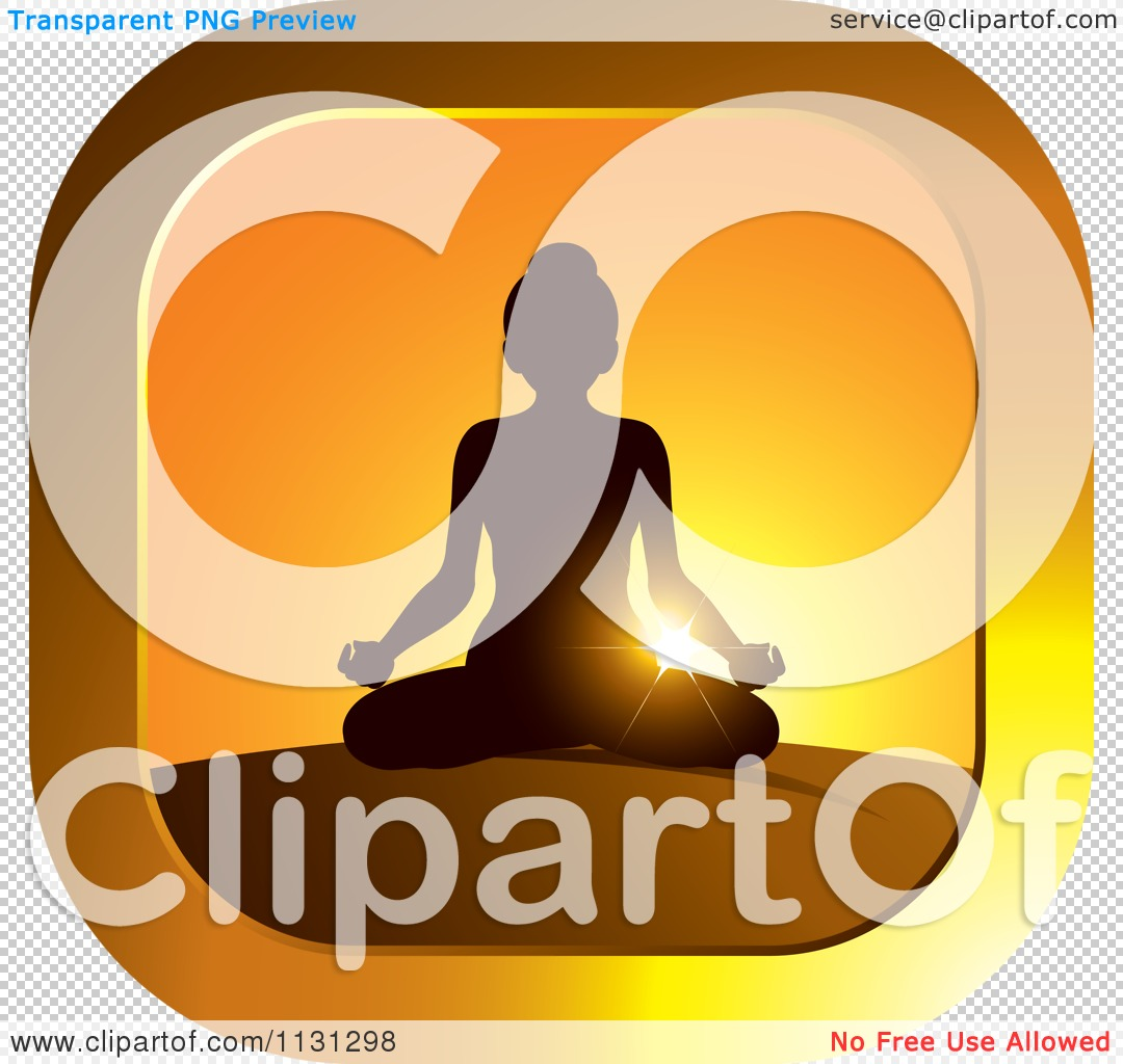 Clipart Of A Sunset Meditation Yoga Icon Royalty Free Vector Illustration By Lal Perera 1131298