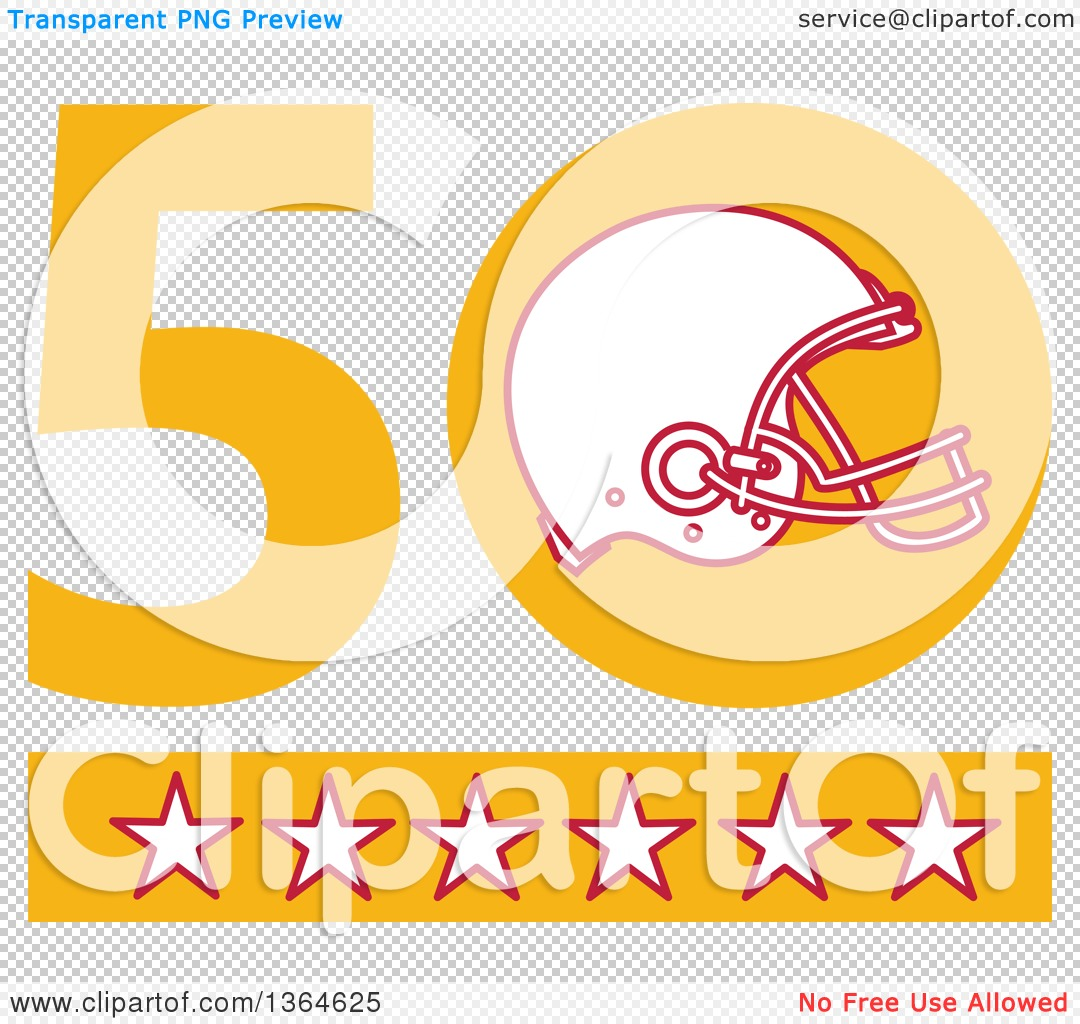 Clipart of a Super Bowl 50 Sports Design with a Football Helmet ...