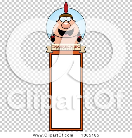 Clipart of a Thanksgiving Native American Indian Man Bookmark ...