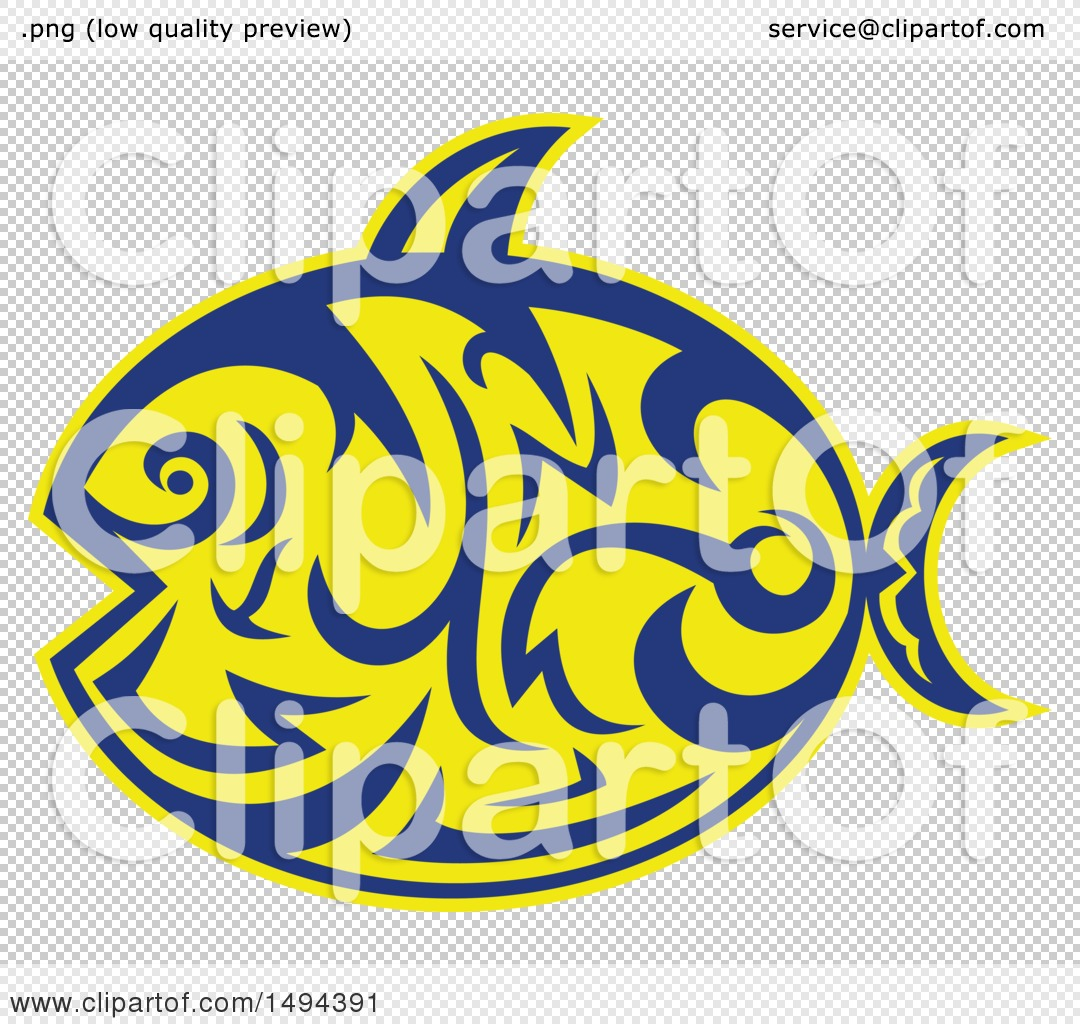 b12084de5baef Clipart of a Tribal Styled Sunfish Common Mola - Royalty Free Vector ...