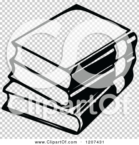 Clipart Of A Vintage Black And White Stack 3 Books