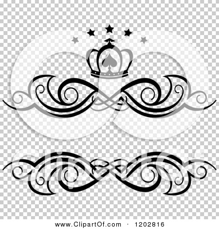 christmas border vector black and white crown