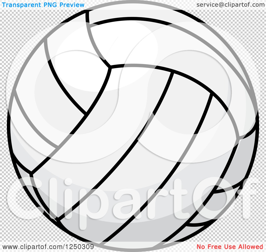 Clipart Of A Volleyball Royalty Free Vector Illustration By Vector Tradition Sm 1250309