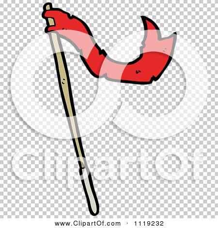 Clipart Of A Waving Red Flag 3 - Royalty Free Vector Illustration ...