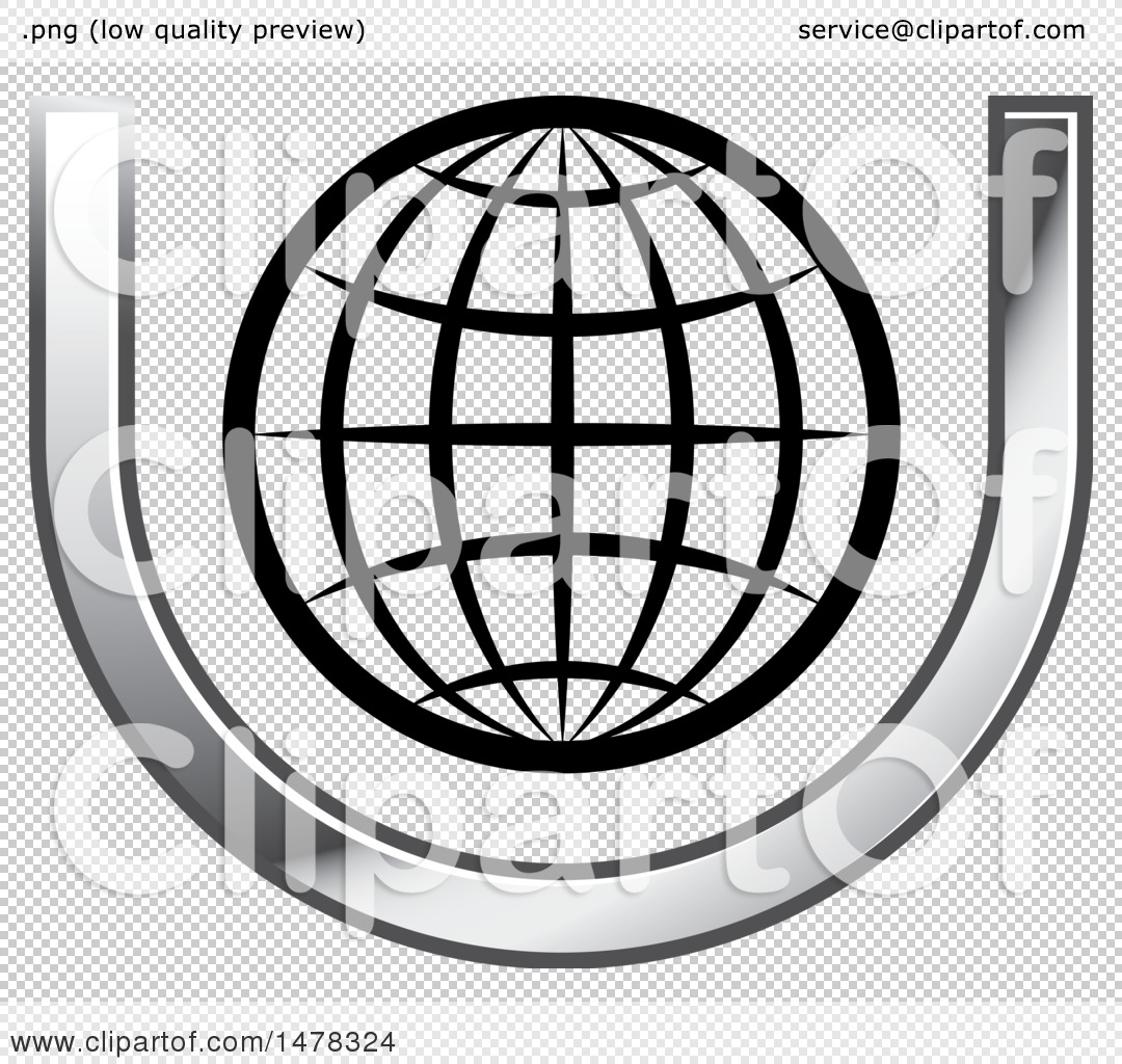 Clipart of a Wire Globe in a Letter U - Royalty Free Vector ...
