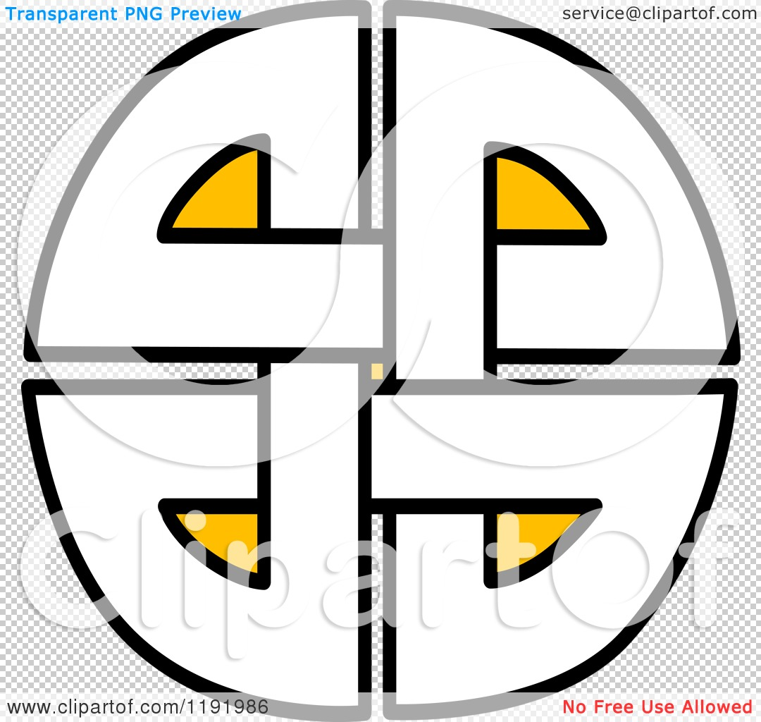 Clipart of a Yellow Black and White Celtic Knot Design Element ...