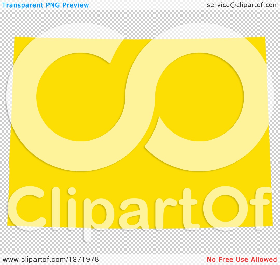 Clipart Of A Yellow Silhouetted Map Shape Of The State Of Colorado - Us vector map on transparent back