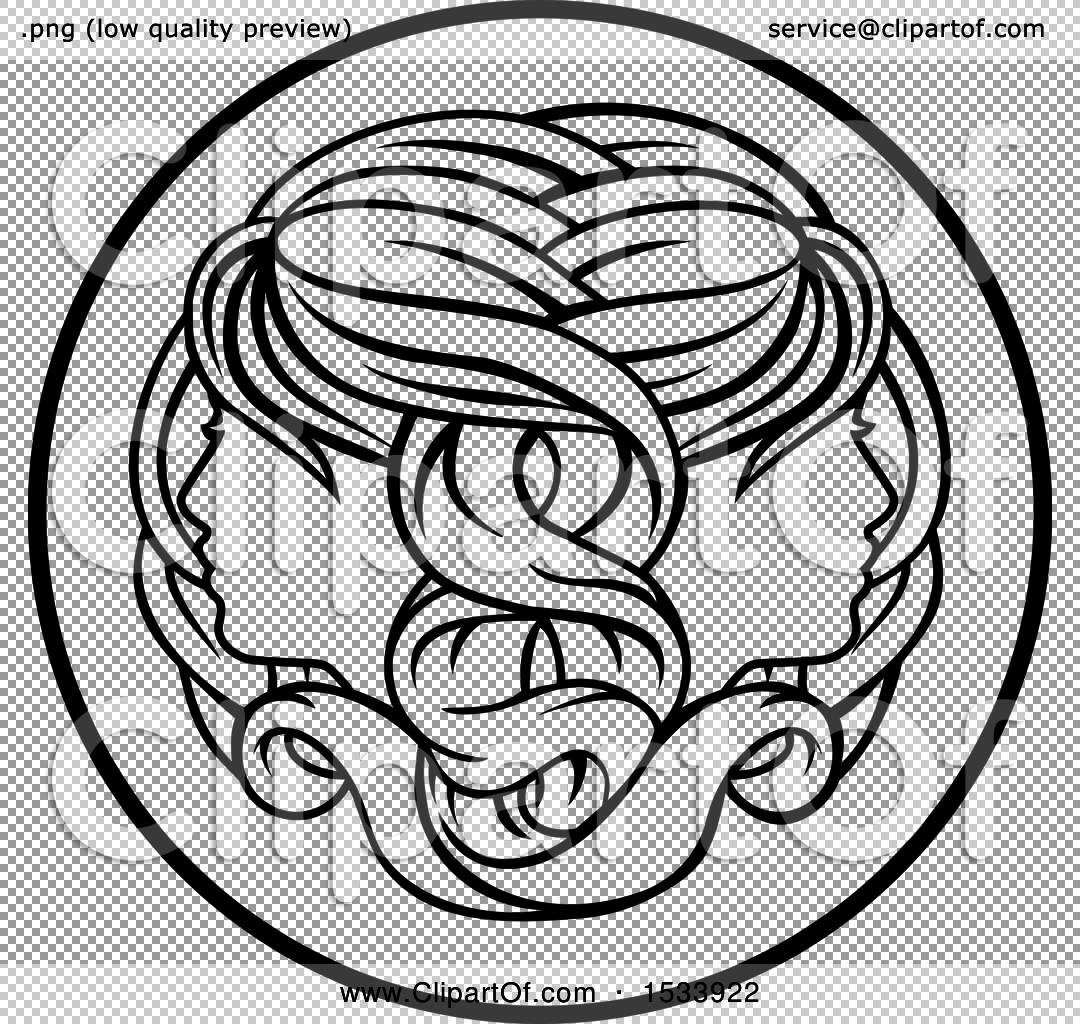 Clipart of a zodiac horoscope astrology gemini twins circle design png file has a biocorpaavc Images
