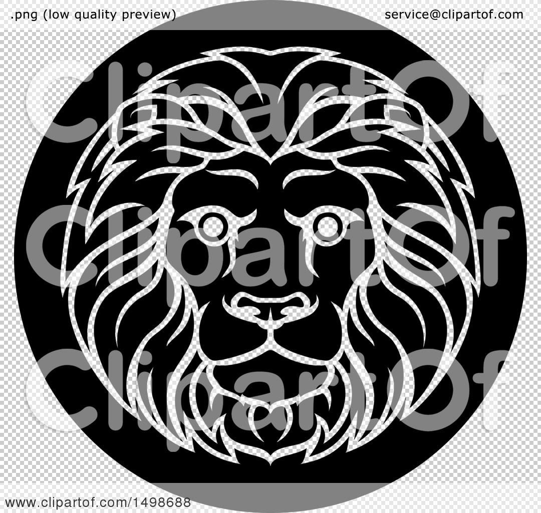 Clipart Of A Zodiac Horoscope Astrology Leo Lion Circle
