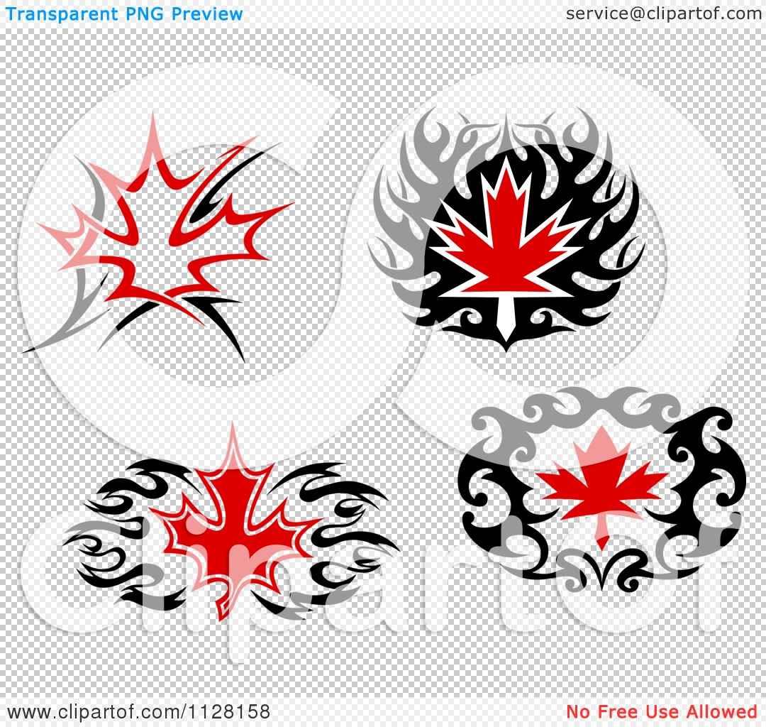 Maple Leaf Tattoo Black  Viewing Gallery