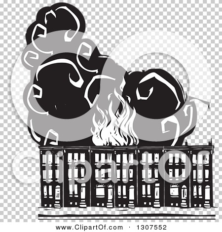 Clipart of black and white burning woodcut baltimore ghetto row clipart of black and white burning woodcut baltimore ghetto row house town homes royalty free vector illustration by xunantunich 1307552 sciox Gallery
