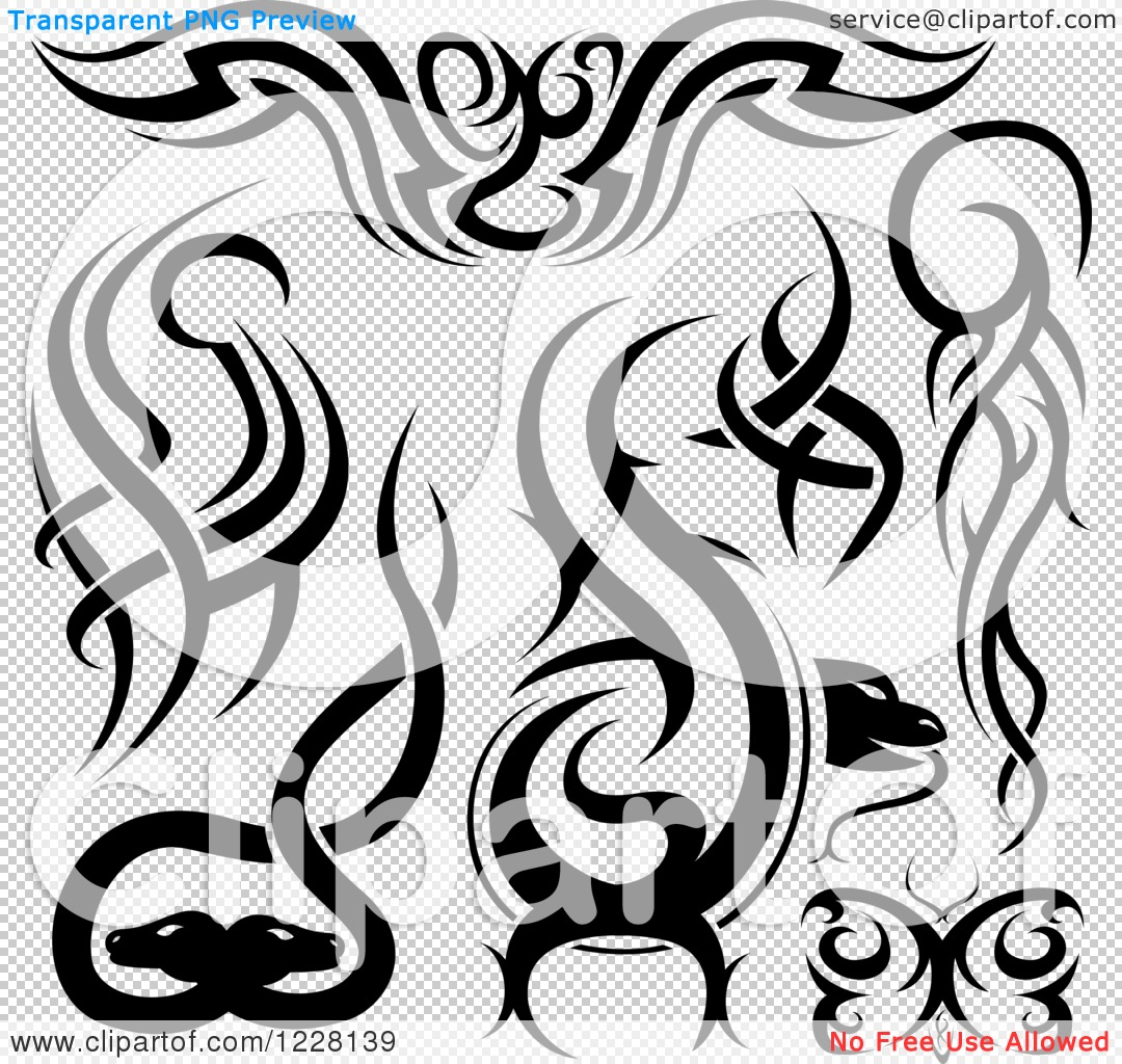 clipart of black and white tribal tattoo designs royalty free vector illustration by dero 1228139. Black Bedroom Furniture Sets. Home Design Ideas
