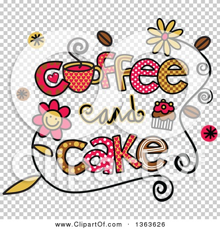 Cake Art Words : Clipart of Colorful Sketched Coffee and Cake Word Art ...