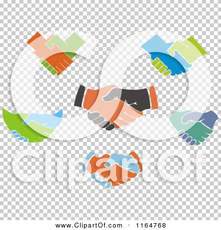 Clipart of Handshakes 2 - Royalty Free Vector Illustration by ...