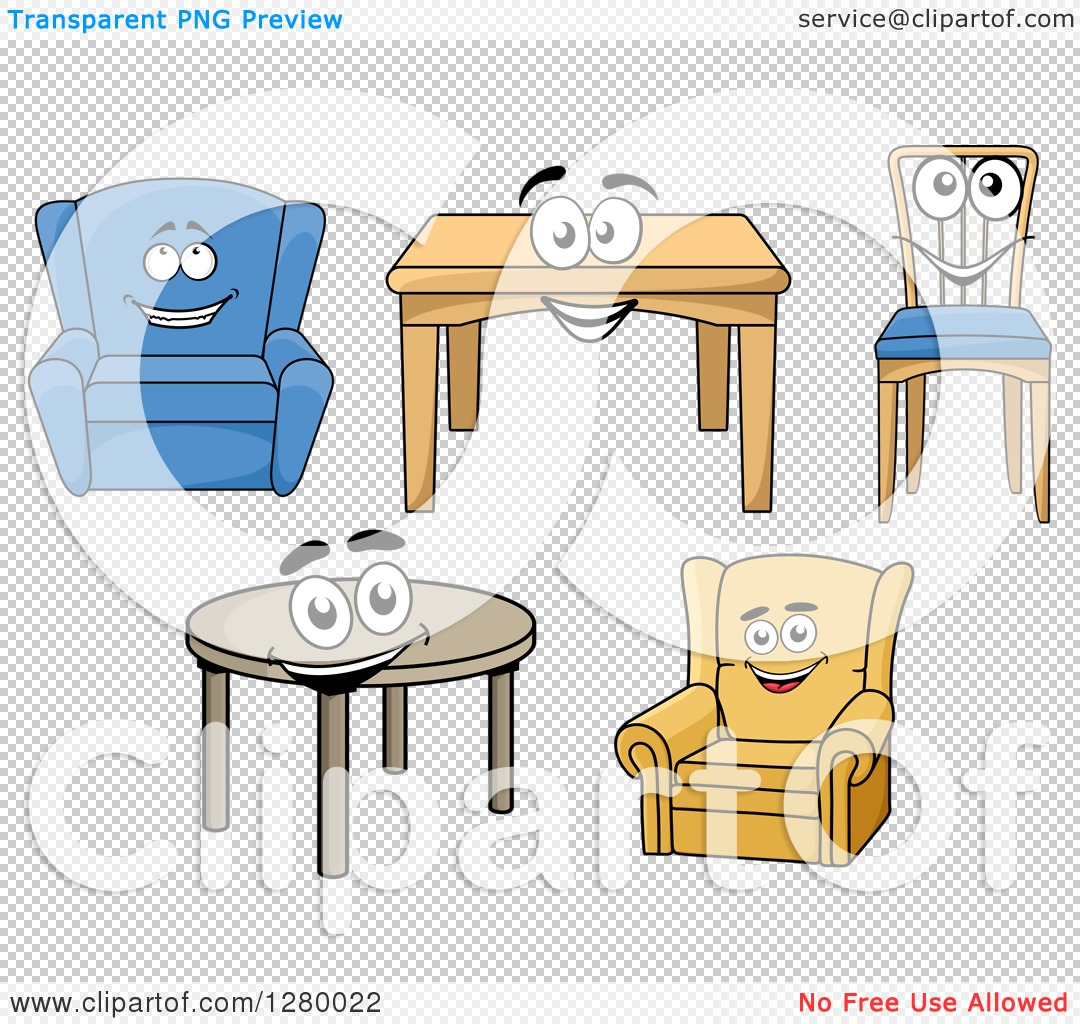 Tables and chairs cartoon - Png File Has A