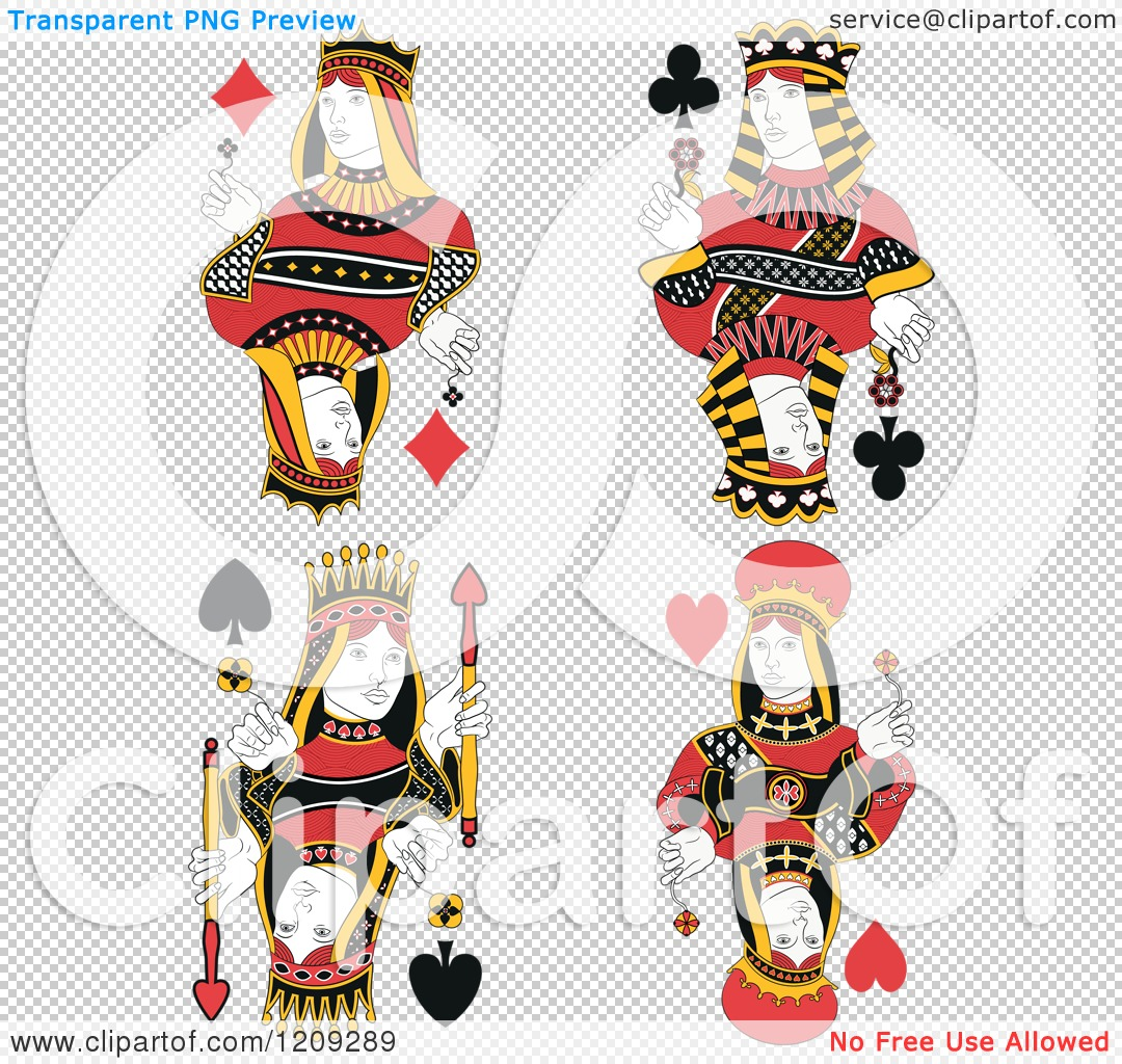 ... Diamonds, Clubs, Spades and Hearts - Royalty Free Vector Illustration