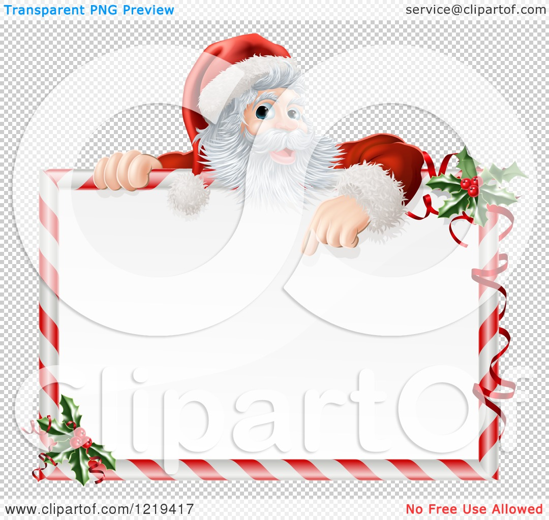 Vector christmas candy pictures - Santas Workshop Clipart Clipart Of Santa Pointing Down