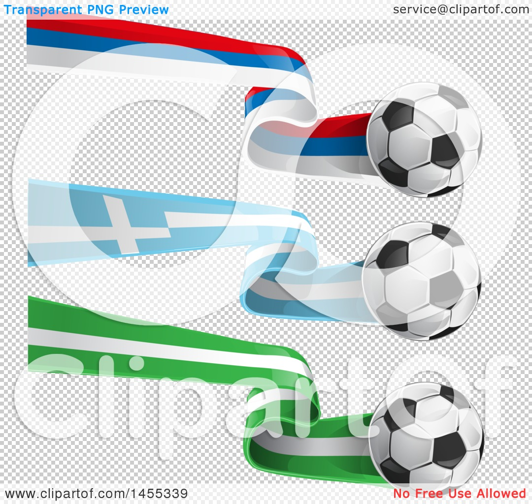 clipart of soccer balls and nigerian greek and russian flag