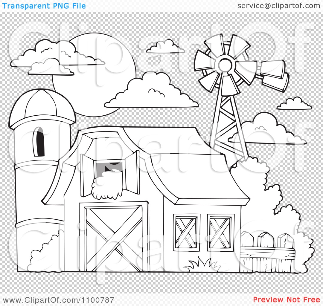 png file has a transparent background - Barns Coloring Pages Farm Silos