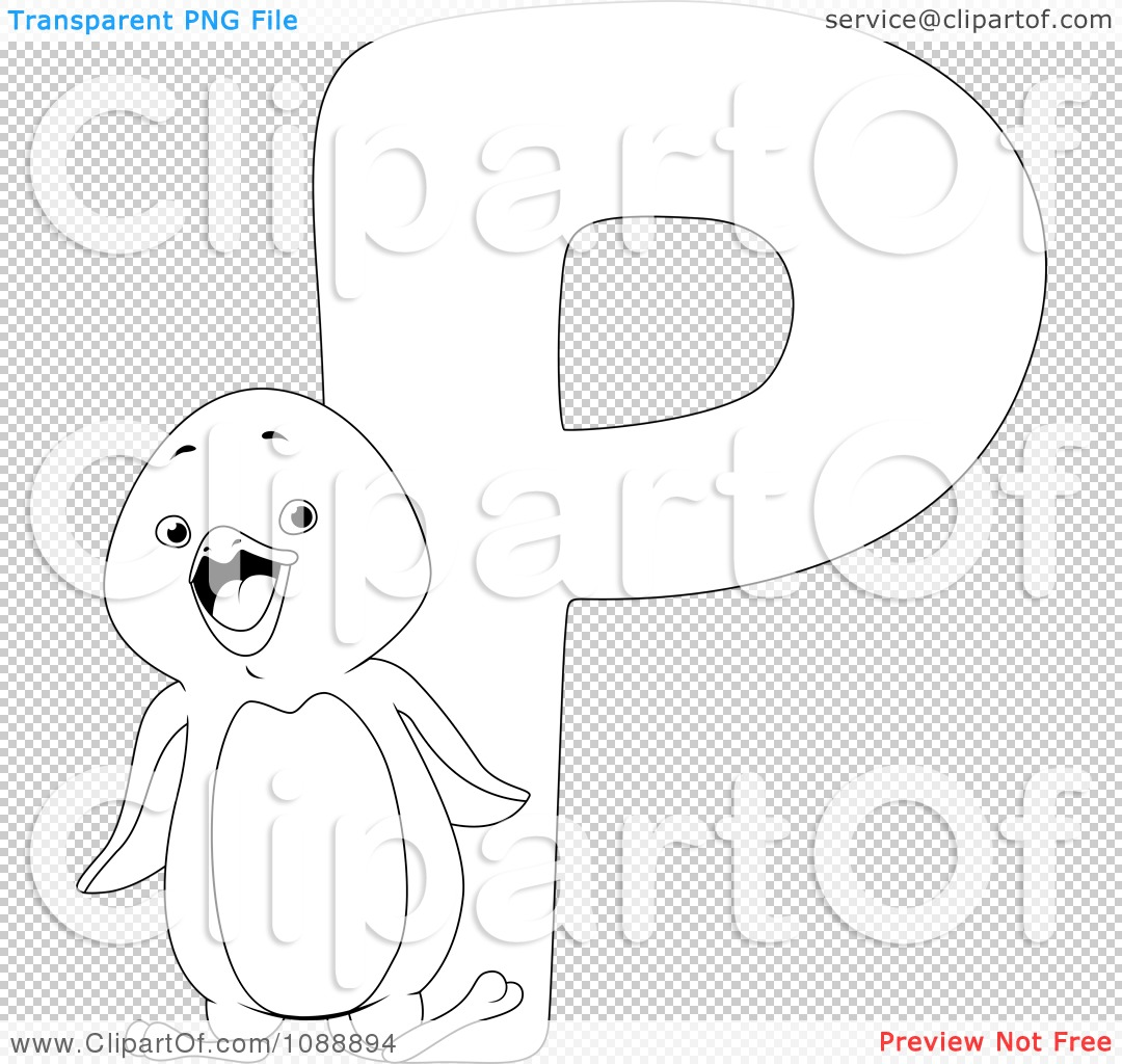 p is for penguin coloring pages - photo #24