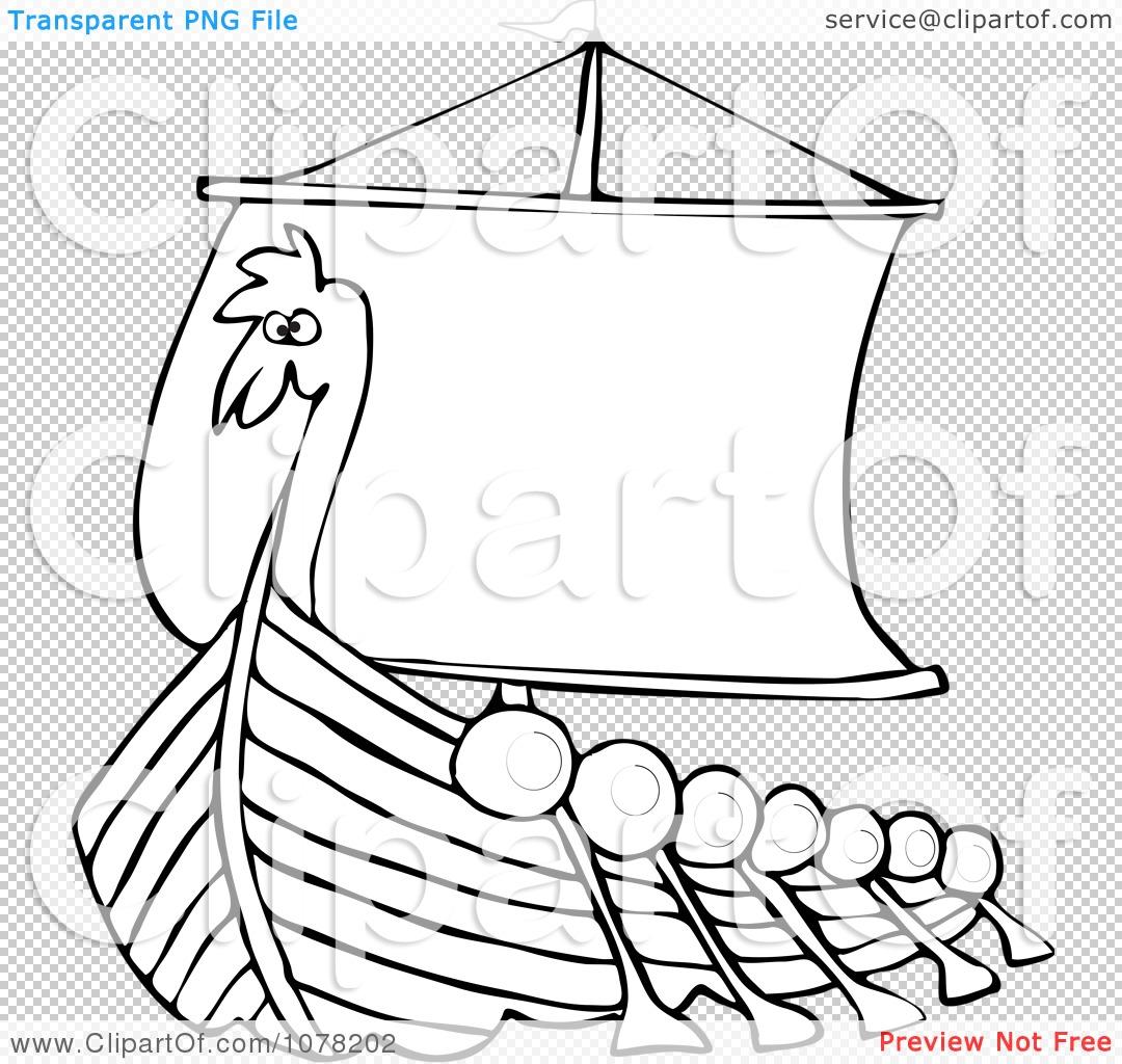 free viking ship coloring pages