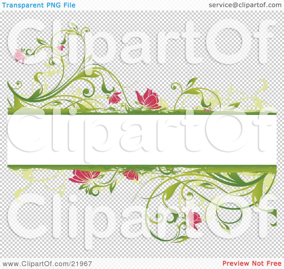 Clipart picture illustration of a blank white text space with floral png file has a transparent background mightylinksfo Choice Image
