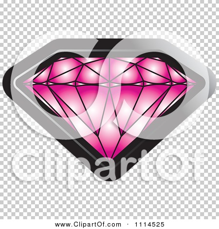 Clipart Pink Sapphire Gemstone - Royalty Free Vector Illustration ...