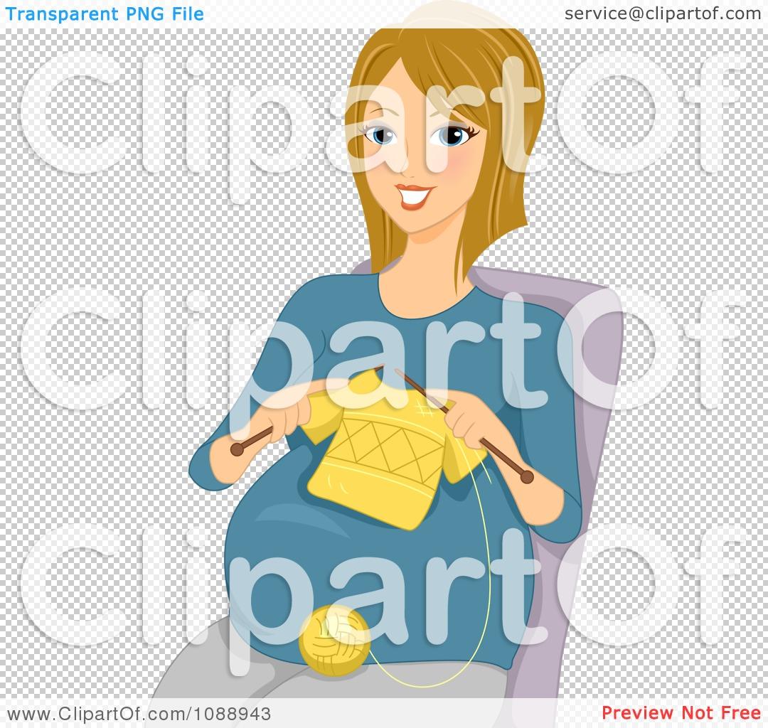 Woman Knitting Clipart : Clipart pregnant woman knitting a baby shirt royalty