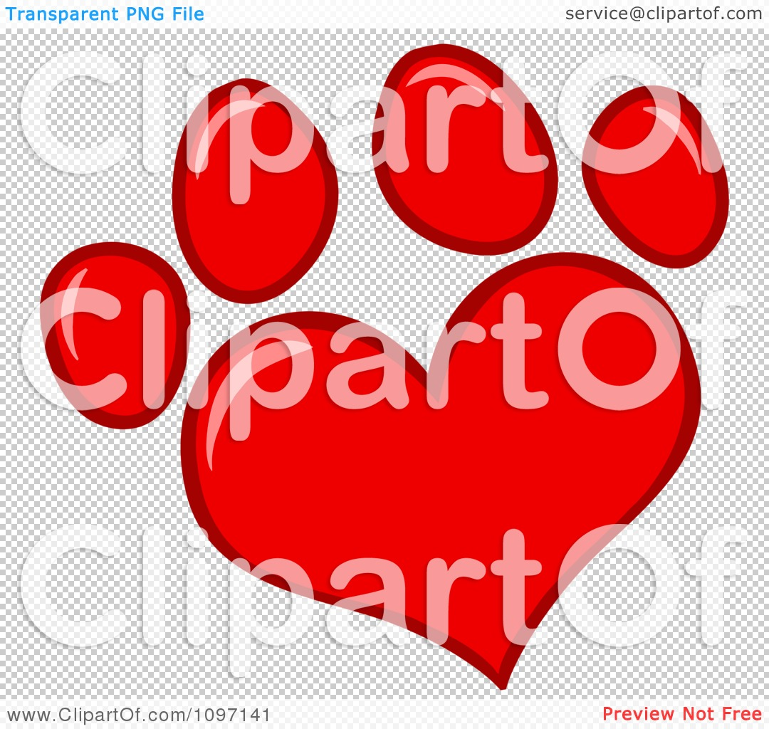 Red dog paw logo - photo#23