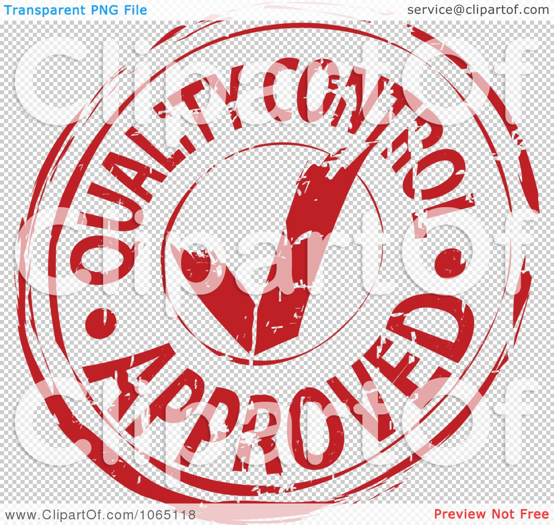 Clipart Red Quality Control Approved Stamp Royalty Free
