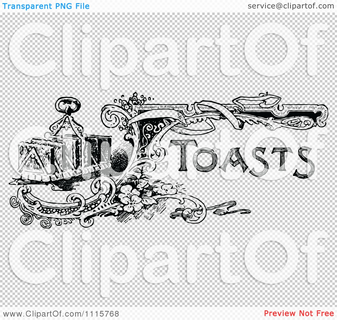 Toast Clipart Black And White